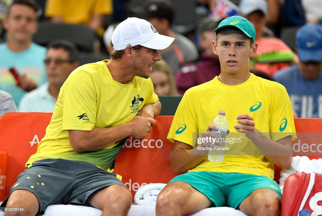 Davis Cup World Group First Round - Australia v Germany : News Photo