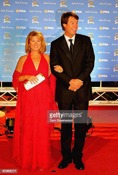 USA team captain Paul Azinger and wife Toni arrive on the red carpet for the Ryder Cup Gala dinner prior to the start of the 2008 Ryder Cup September...