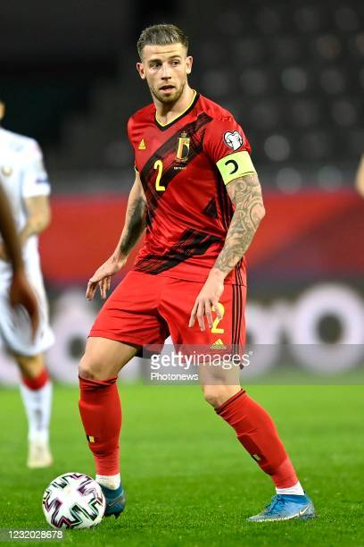 Team captain Toby Alderweireld defender of Belgium in action during the FIFA World Cup Qatar 2022 Qualifiers Round Group E Match between Belgium and...