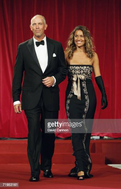 Team Captain Tom Lehman and wife Melissa walk down the catwalk during the Ryder Cup Gala Dinner at Citywest Hotel and Golf Resort September 20 2006...