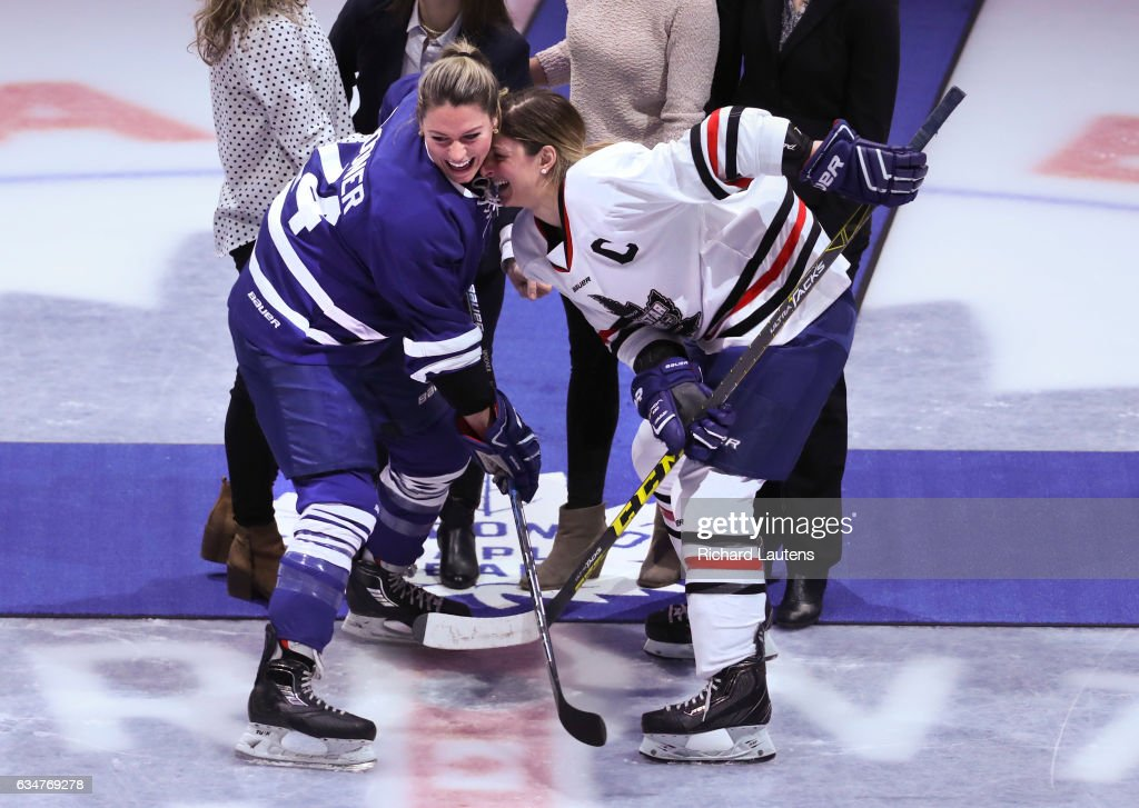 Canadian women's hockey league is holding its all-star game at the ACC. : News Photo