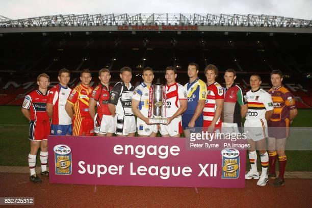 Team Captains Hull KR's James Webster, Wakefield Trinity Wildcats' Jason Demetriou, Catalan Dragons' Stacey Jones, Salford City Reds' Malcolm Alker,...