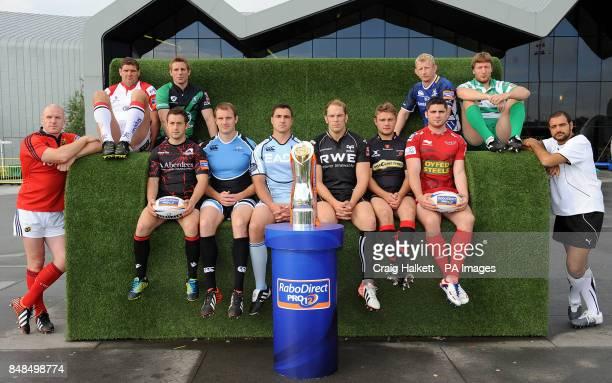 Team captains Munster's Paul O'Connell Ulster's Johannes Muller Connaught's Gavin Duffy Edinburgh's Greig Laidlaw Glasgow's Al Kellock Cardiff's...