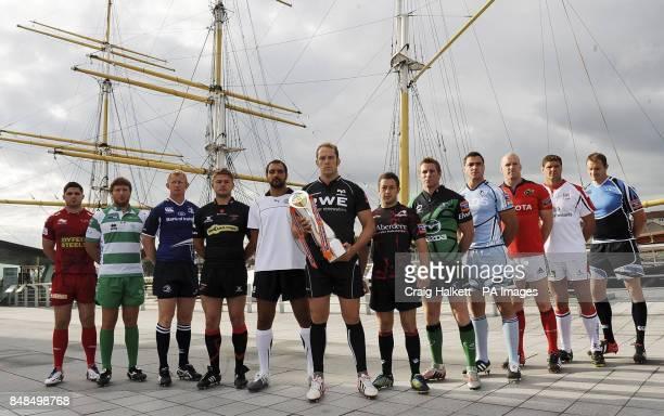 Team captains Scarlets Rob McCusker Benetton's Antonio Pavanello Leinster's Lee Cullen Newport GwentDragons Louie Evans Zebre's Marco Bortolani...