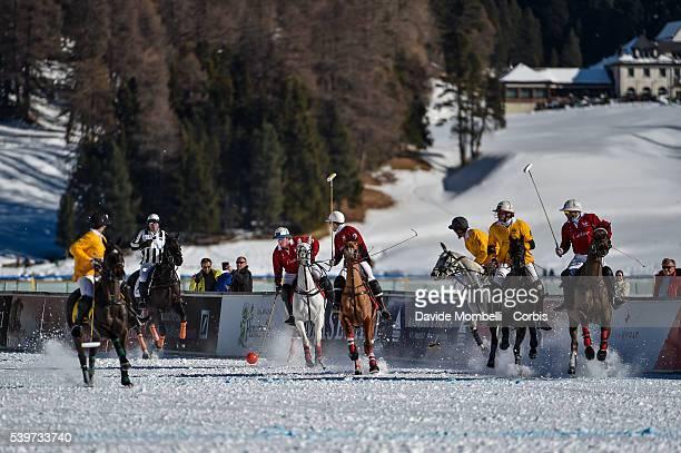 Team Cartier Vs PerrierJouët Snow Polo World Cup St Moritz Switzerland 2016