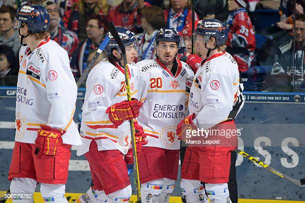 1 during the DEL game between the Eisbaeren Berlin and Duesseldorfer EG on January 22 2016 in Berlin Germany