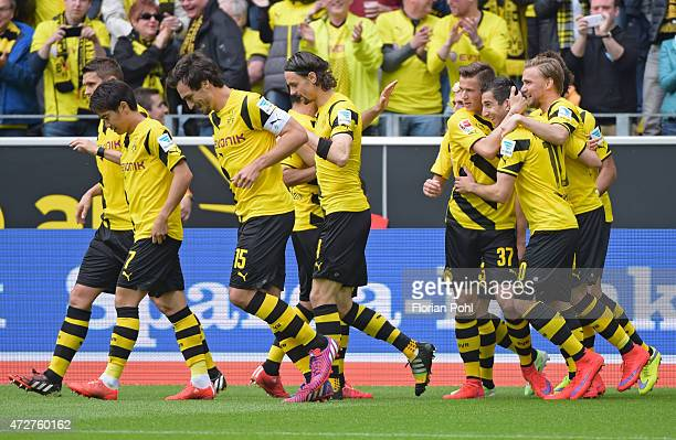 0 during the game between Borussia Dortmund and Hertha BSC on May 9 2015 in Dortmund Germany