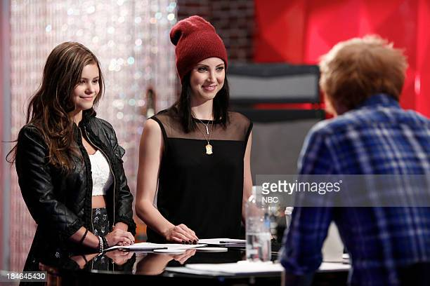 THE VOICE Team Christina Battle Reality Episode 507 Pictured Jacquie Lee Briana Cuoco Ed Sheeran