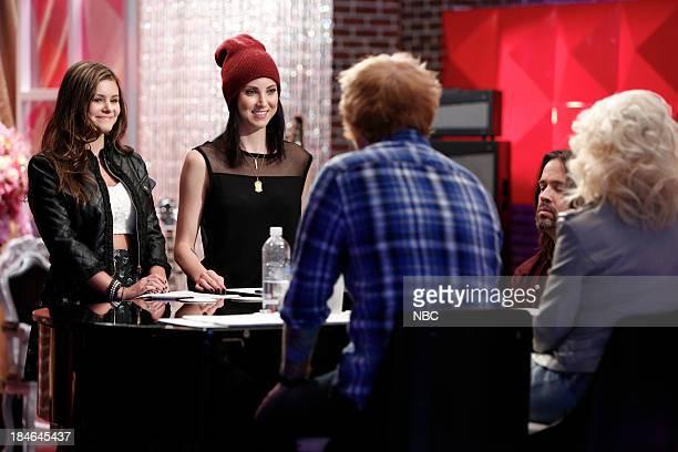 THE VOICE Team Christina Battle Reality Episode 507 Pictured Jacquie Lee Briana Cuoco Ed Sheeran Paul Mirkovich Christina Aguilera