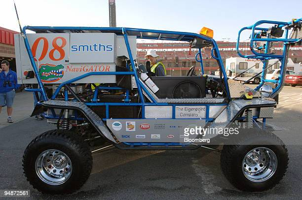 Team CIMAR's entry NaviGATOR stands in the pit area during the National Qualification Event for the DARPA Grand Challenge Tuesday October 4 2005 at...