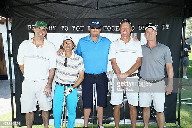 Team Clooney pose with actors Matt Adler and Joel Gretsch during The Screen Actors Guild Foundation's 6th Annual Los Angeles Golf Classic on June 8...