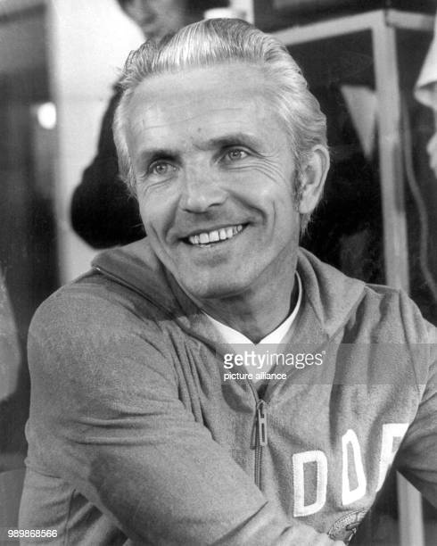 GDR team coach Georg Buschner during the 1974 FIFA World Cup in Gelsenkirchen