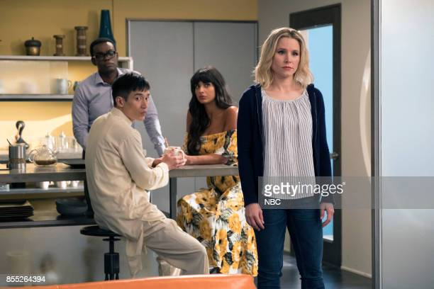 PLACE 'Team Cockroach' Episode 204 Pictured William Jackson Harper as Chidi Manny Jacinto as Jianyu Jameela Jamil as Tahani Kristen Bell as Eleanor...