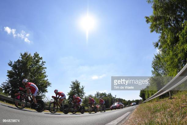 Team Cofidis / Christophe Laporte of France and Team Cofidis / Dimitri Claeys of Belgium and Team Cofidis / Nicolas Edet of France and Team Cofidis /...