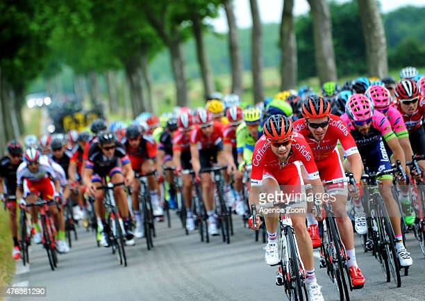 Team COFIDIS SOLUTIONS CREDITS during Stage Two of the Criterium du Dauphine on June 8 2015 in Le Bourget du Lac France