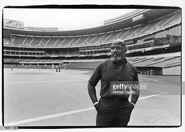 Team counselor Dr Harry Edwards of the San Francisco 49ers stands on the field before the game against the Pittsburgh Steelers at Three Rivers...