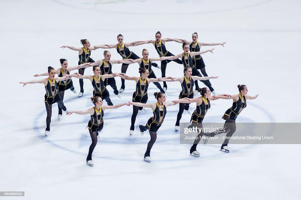 World Junior Synchronized Skating Championships - Zagreb : News Photo