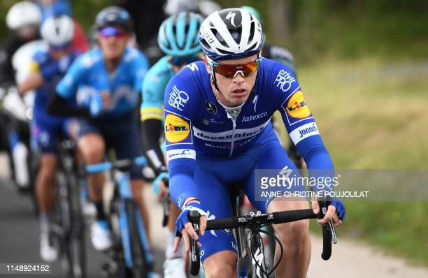 Team DeceuninckQuickStep rider France's Remi Cavagna rides during the second stage of the 71st edition of the Criterium du Dauphine cycling race 180...