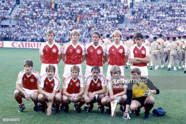 Team Denmark Ole Qvist Ole Rasmussen Morten Olsen Soren Busk Ivan Nielsen Frank Arnesen Klaus Berggreen Jens Jorn Bertelsen Soren Lerby Michael...