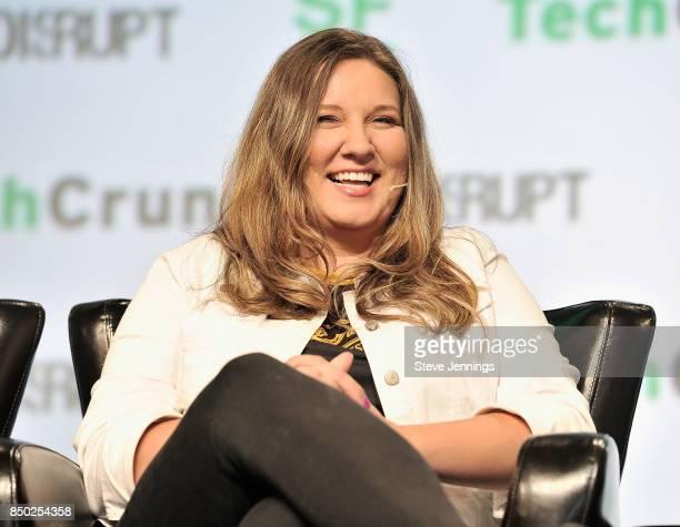 Team Dignitas Ltd Director of Fan Marketing Heather Garozzo speaks onstage during TechCrunch Disrupt SF 2017 at Pier 48 on September 20 2017 in San...