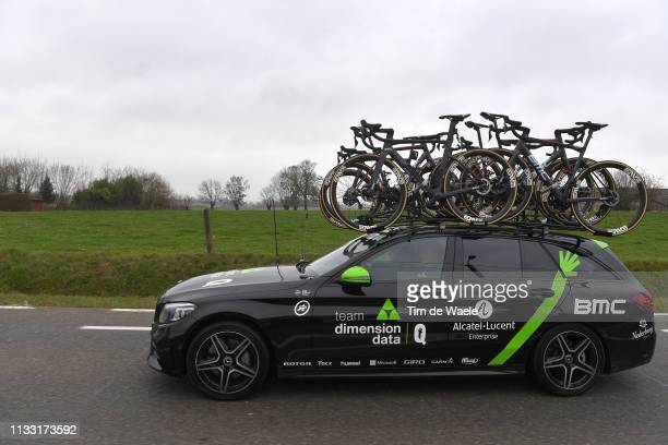 Team Dimension Data Car / BMC Bike / during the 74th Omloop Het Nieuwsblad 2019 a 200km race from Gent to Ninove / FLanders Classics / @OmloopHNB /...