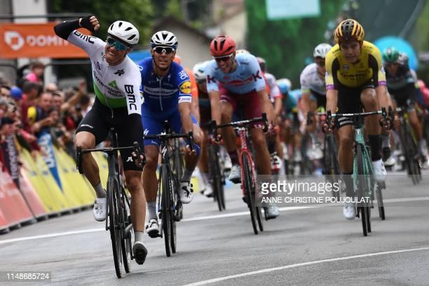 Team Dimension Data rider Norway's Edvald Boasson Hagen followed by Team DeceuninckQuickStep rider Belgium's Philippe Gilbert Team Katusha Alpecin...