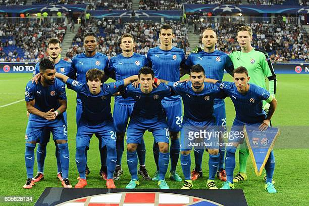 Team Dinamo Zagreb during the Uefa Champons League match between Olympique Lyonnais Lyon and Dinamo Zagreb at Stade des Lumieres on September 14 2016...