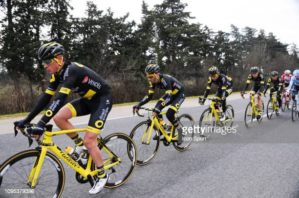 Team Direct Energie during the stage one of Etoile de Besseges from Bellegarde and Beaucaire on February 7 2019 in Beaucaire France
