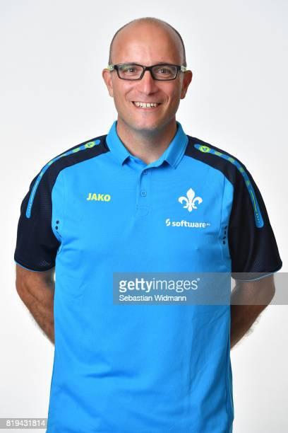 Team doctor Alexander Lesch of SV Darmstadt 98 poses during the team presentation at MerckStadion am Boellenfalltor on July 20 2017 in Darmstadt...
