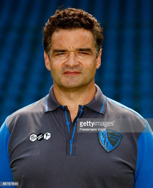 Team doctor Dr KarlHeinz Bauer poses during the VfL Bochum team presentation at the rewirpower stadium on June 29 2009 in Bochum Germany