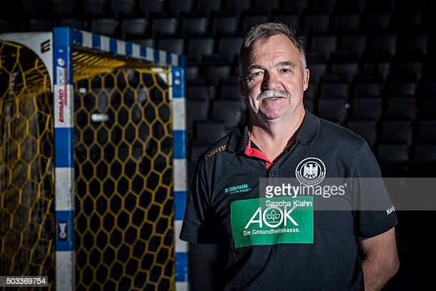 Team doctor Dr Kurt Steuer poses during the handball national team of Germany presentation prior to the EURO 2016 in Poland on January 4 2016 in...