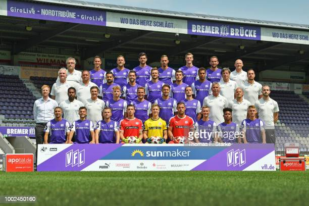 David Blacha of VfL Osnabrueck poses during the team presentation at Stadion an der Bremer Bruecke on July 20 2018 in Osnabrueck Germany