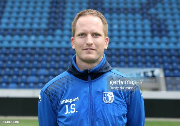 Team doctor Jan Schuettrumpf poses during the team presentation of 1 FC Magdeburg at MDCCArena on July 13 2017 in Magdeburg Germany