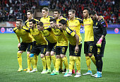monaco monaco team dortmund poses ahead