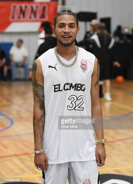 Team El Combo coach Mozart La Para is introduced during Roc Nation's Roc da Court allstar basketball game benefiting the Boys Girls Clubs of Southern...