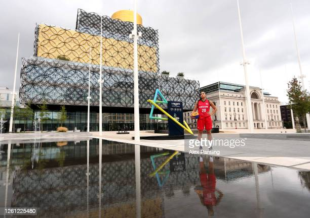 Team England Basketball player Dominique Allen poses for portraits in Centenary Square on July 14, 2020 in Birmingham, England. Team England...