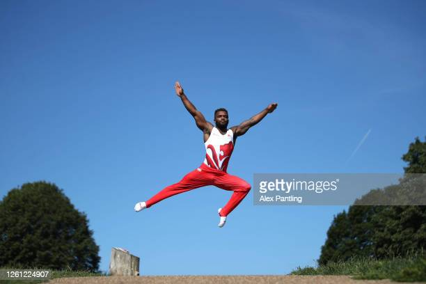 Team England Gymnast Courtney Tulloch trains at Mote Park on July 13, 2020 in Maidstone, England. Team England celebrate 2 years until Birmingham...