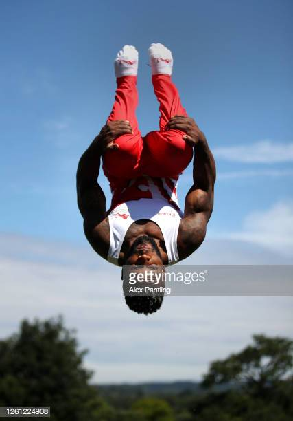 Team England Gymnast Courtney Tulloch trains at Mote Park on July 13 2020 in Maidstone England Team England celebrate 2 years until Birmingham 2022...