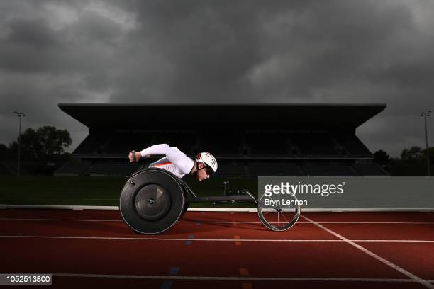 Team England para athletics star from the Gold Coast 2018 Commonwealth Games Nathan Maguire at the Alexander Stadium which will host the athletics...