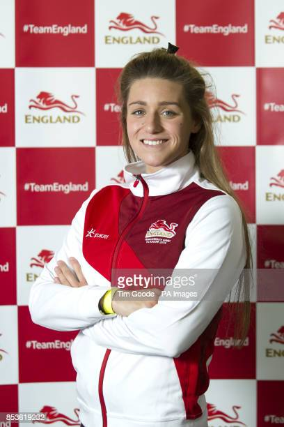 Team England swimmer Jessica Fullalove during a kitting out session at St George's Park Burton ahead of the 2014 Commonwealth Games