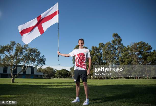 Team England's flag bearer Alistair Brownlee poses during a Team England media opportunity ahead of the 2018 Gold Coast Commonwealth Games, at...