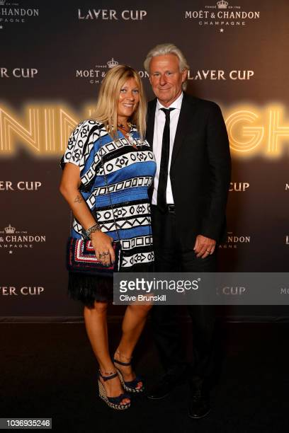Team Europe Captain Bjorn Borg of Sweden and his wife Patricia Ostfeldt arrive on the Black Carpet during the Laver Cup Gala at the Navy Pier...