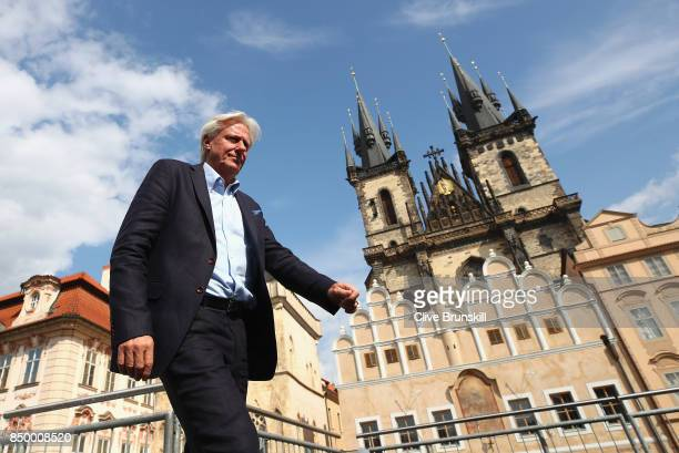 Team Europe Captain Bjorn Borg walks onto the stage qahead of the Laver Cup on September 20 2017 in Prague Czech Republic The Laver Cup consists of...
