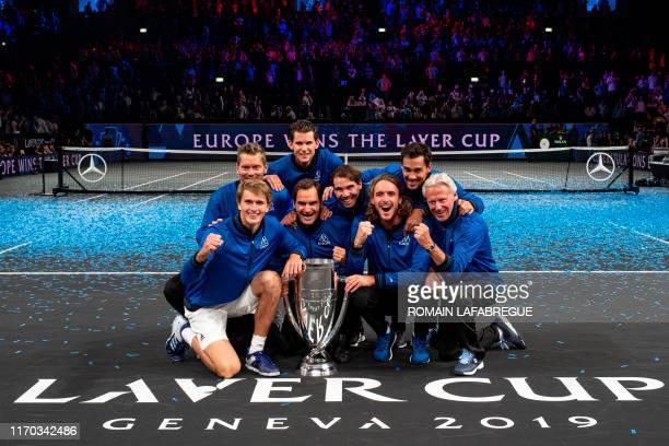 Team Europe's composed of Captain Thomas Enqvist, Alexander Zverev, Roger Federer, Rafael Nadal, Stefanos Tsitsipas, and Captain Bjorn Borg Fabio...