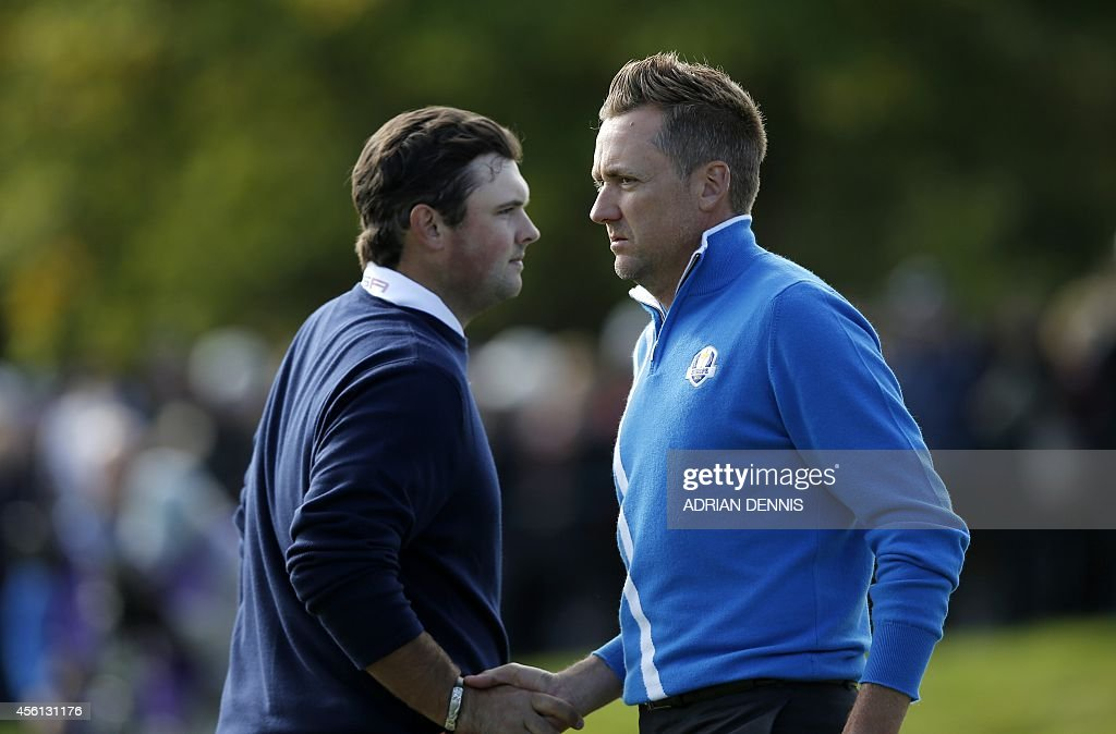 Image result for patrick reed and ian poulter