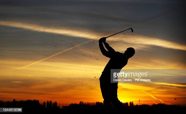 Team Europe's Rory McIlroy on the practice green before day two of the Ryder Cup at Le Golf National SaintQuentinenYvelines Paris