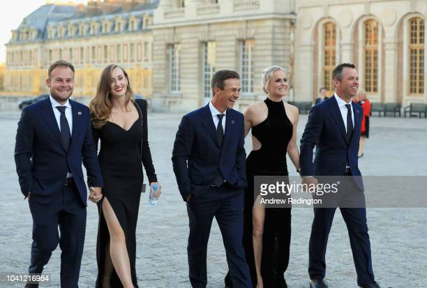 Team Europe's Tyrrell Hatton and girlfriend Emily Braisher Thorbjorn Olesen Paul Casey and his wife Pollyanna Casey arrive at the Ryder Cup gala...