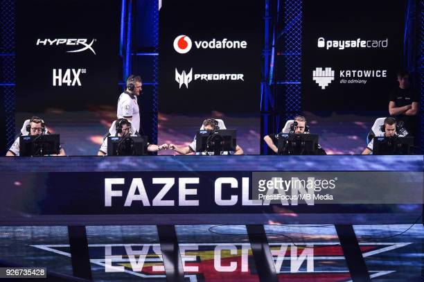 Team FaZe Clan during CounterStrike Global Offensive semi final game between Astralis and FaZe Clan on March 3 2018 in Katowice Poland
