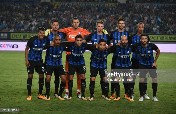 Team FC Internazionale pose during the 2017 International Champions Cup match between FC Internazionale and Olympique Lyonnais at Olympic Stadium on...