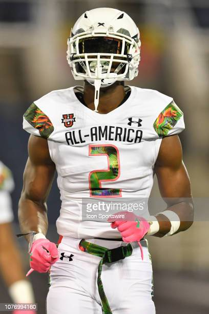 Team Flash wide receiver George Pickens during the Under Armour AllAmerica Game between Team Flash and Team Ballaholics on January 03 at Camping...